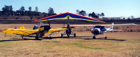 Light Flight - Light sport aircraft in our flight school in 1999.