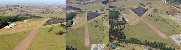 Aerial photos of the extended runway at Light Flight